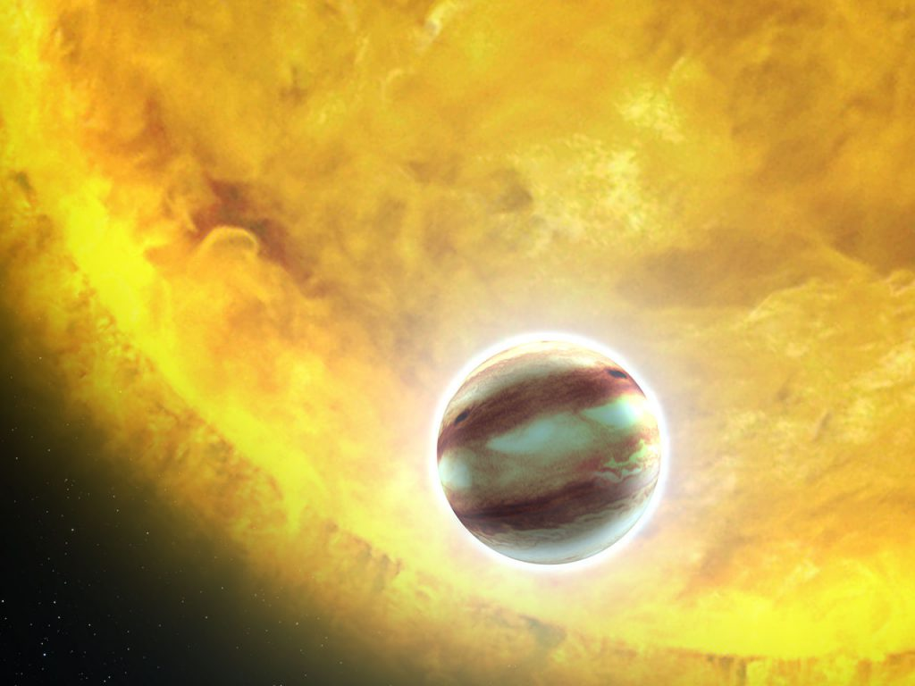 Transiting exoplanet HAT-P-7b (artist's impression)