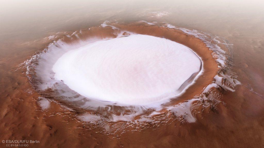 KOROLEV CRATER الفوهة الجليدية على كوكب المريخ