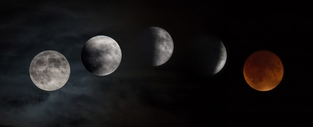 lunar eclipse خسوف القمر