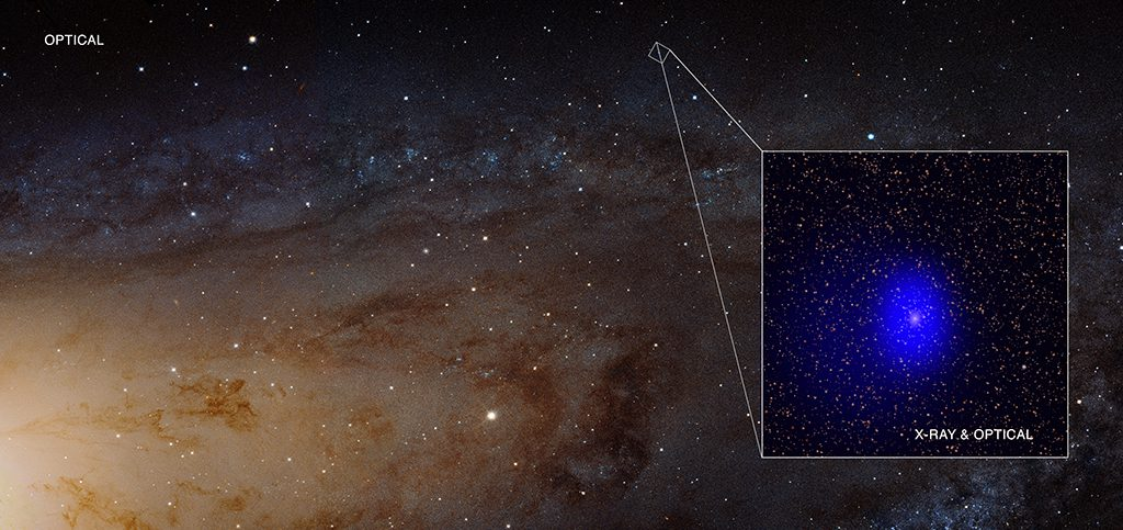 An intriguing source has been discovered in the nearby Andromeda galaxy.